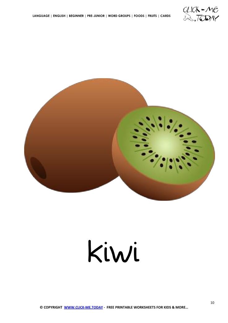 Printable Kiwi flashcard Wall