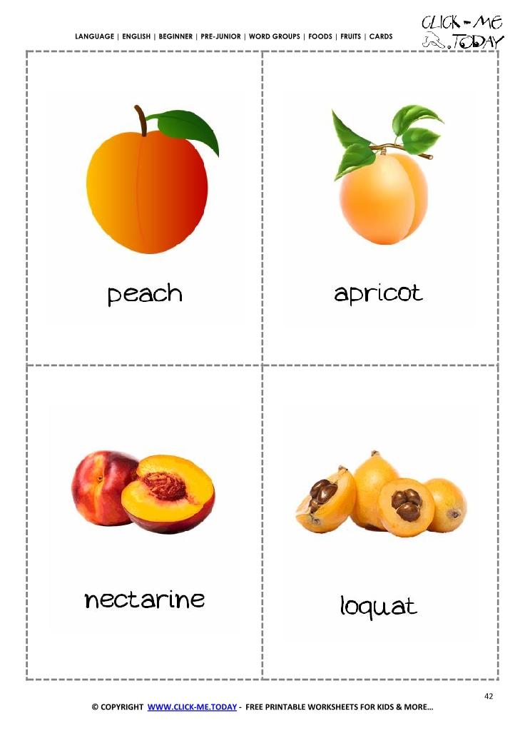 Fruits flashcards 4