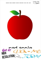 Printable Apple flashcard | Wall card of Apple