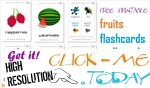 Printable fruits flashcards for toddlers & Kindergarten