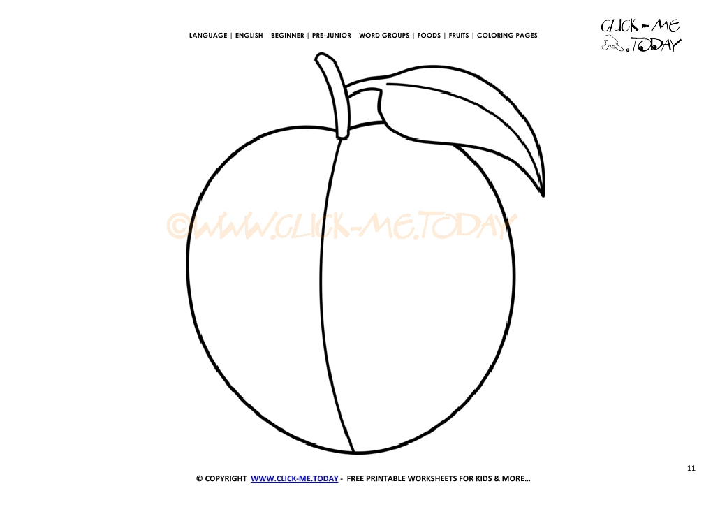 2572 Peach Coloring Page Free Printable Peach Cut Out Template on Easter Word Search