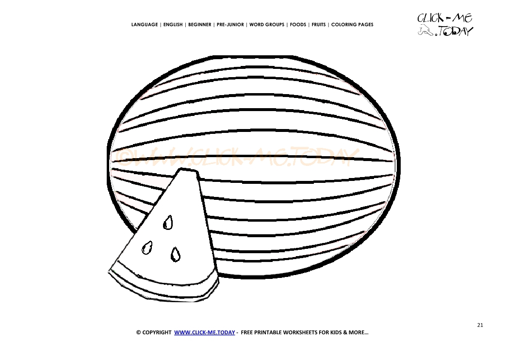 watermelon coloring page free printable watermelon cut out template