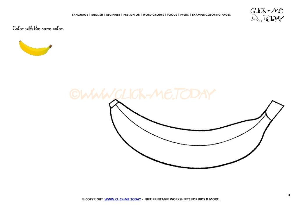 Example Coloring Page Banana