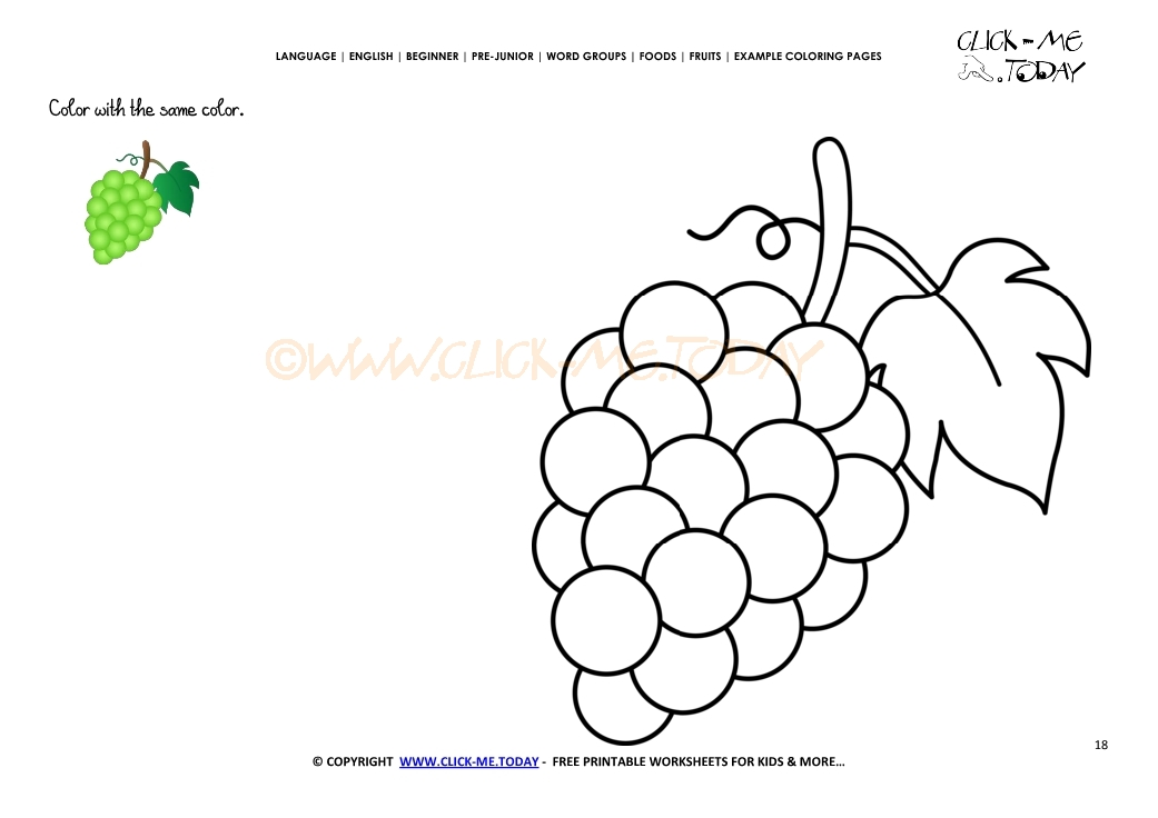 Top 25 Free Printable Lovely Grapes Coloring Pages Online | 736x1041