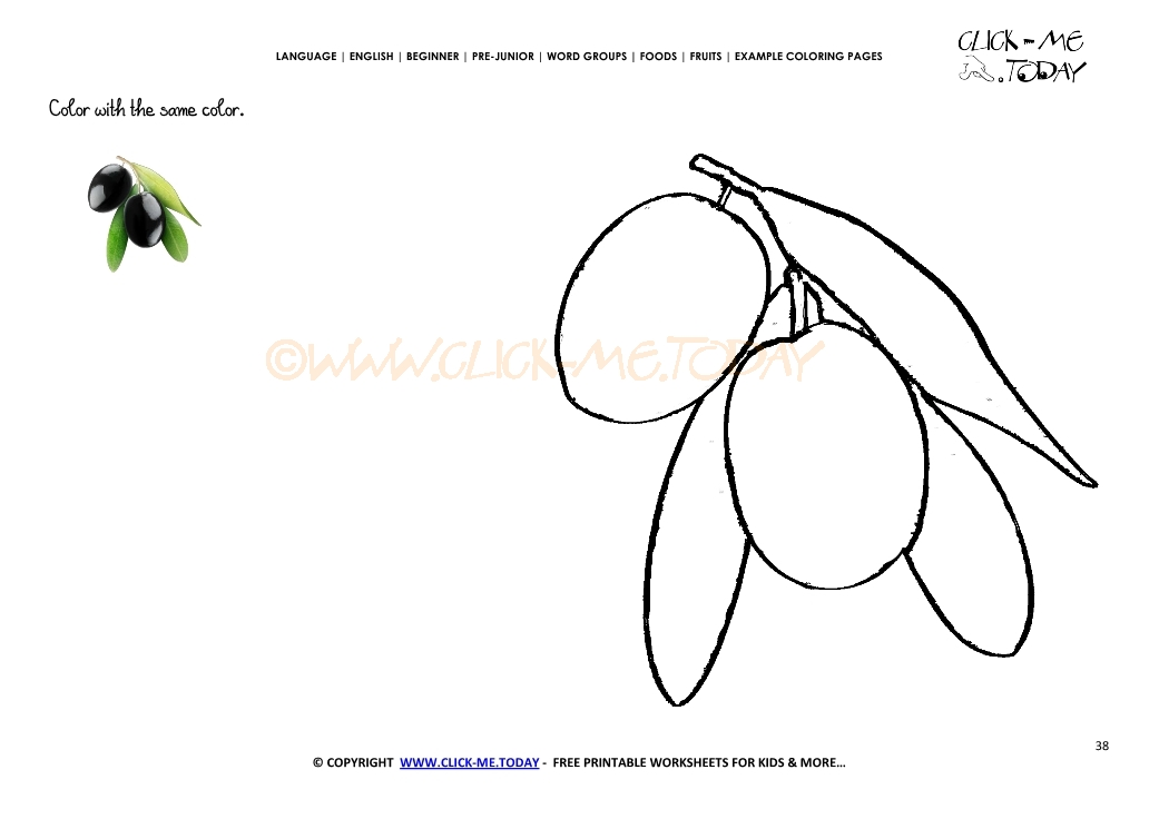 Example Coloring Page Olive