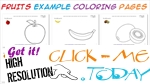 Free Fruits Example coloring pages for preschoolers
