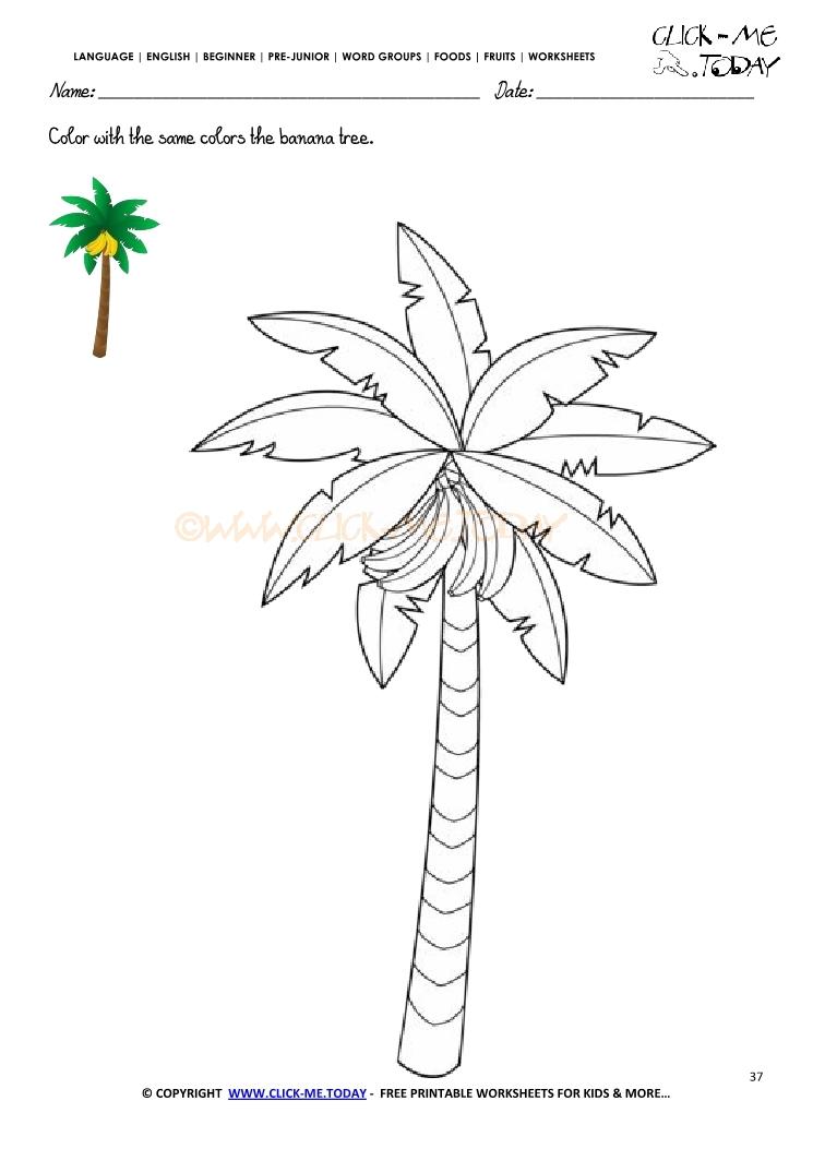 banana worksheets kindergarten banana best free printable worksheets. Black Bedroom Furniture Sets. Home Design Ideas