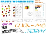 Fruits Worksheets printables