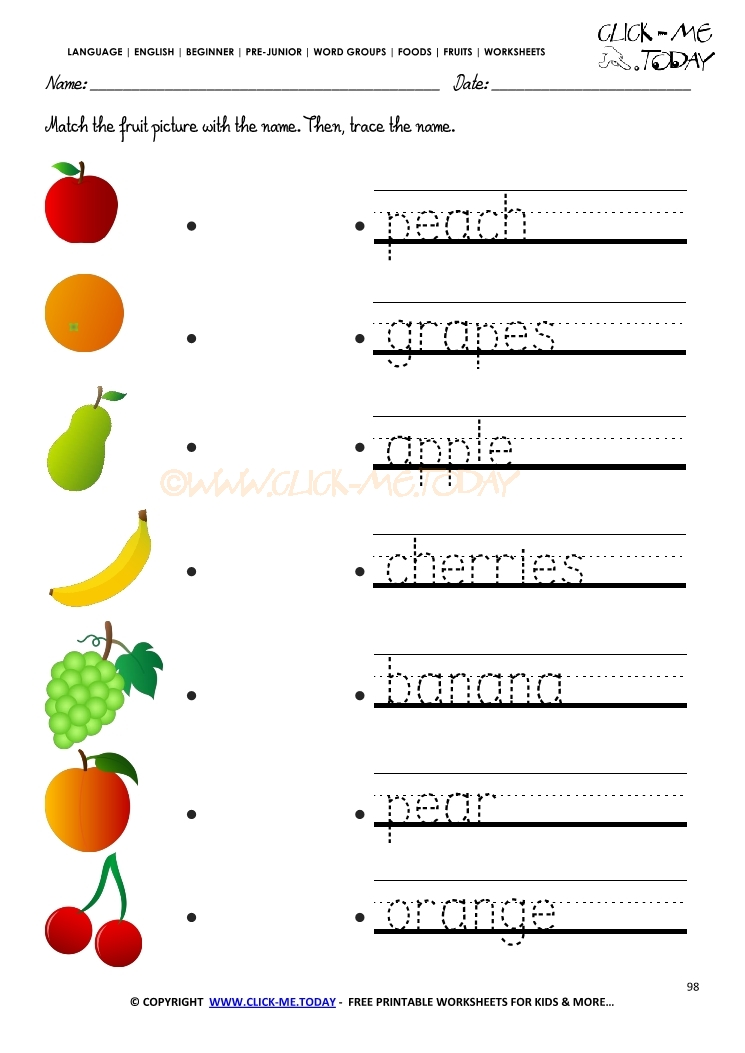 38 Printable Fruit Coloring Pages