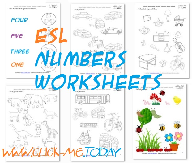 number word worksheets for kindergarten