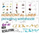 HORIZONTAL LINES WORKSHEETS
