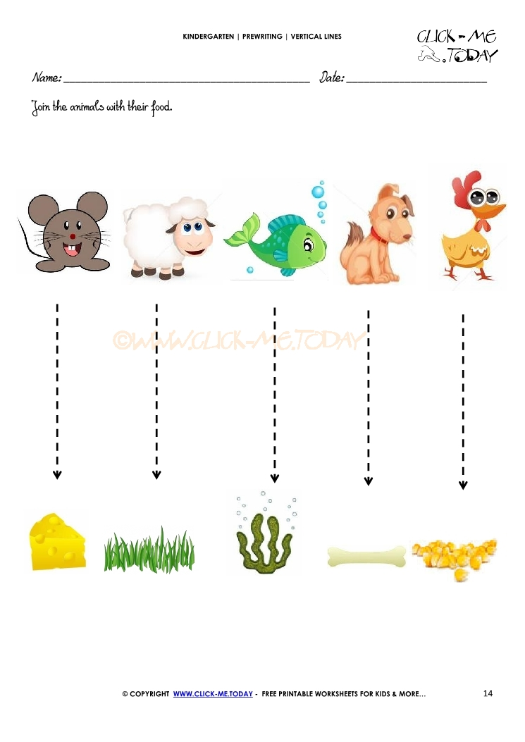 569 Vertical Lines Worksheet 14 on Easter Worksheet