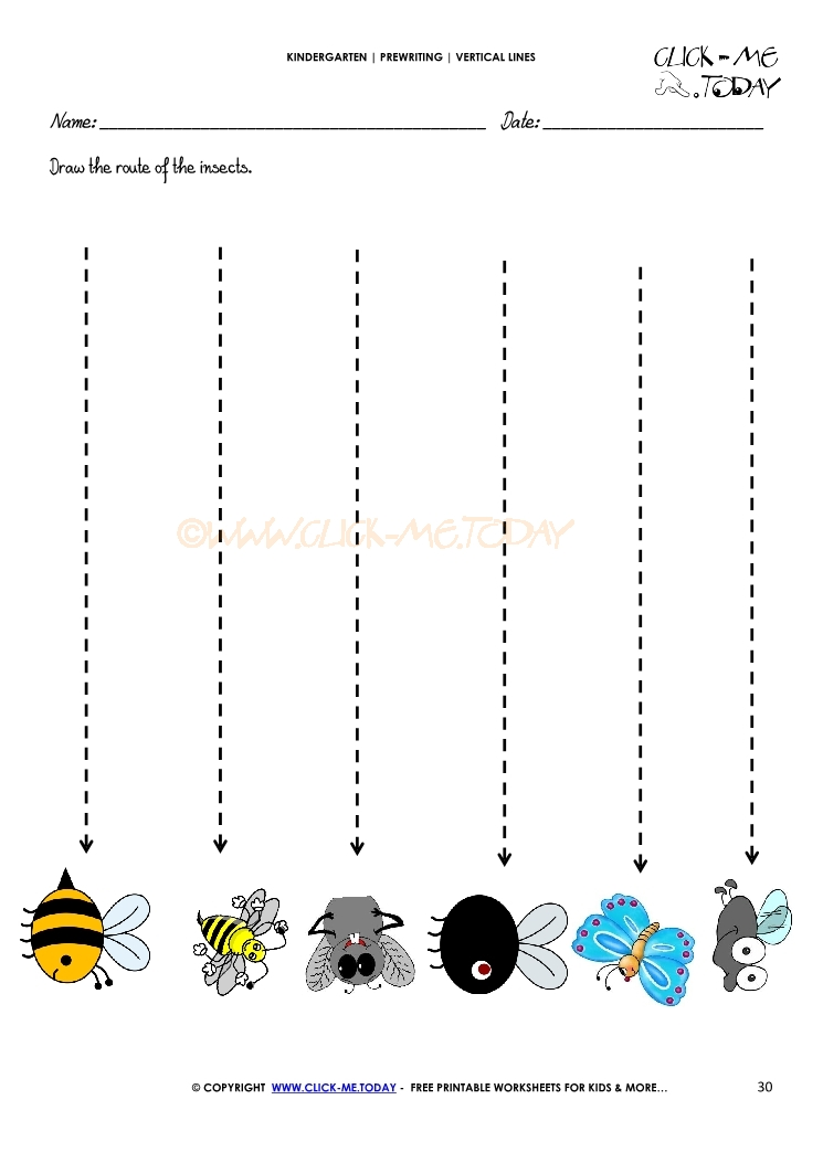 VERTICAL LINES WORKSHEET 30