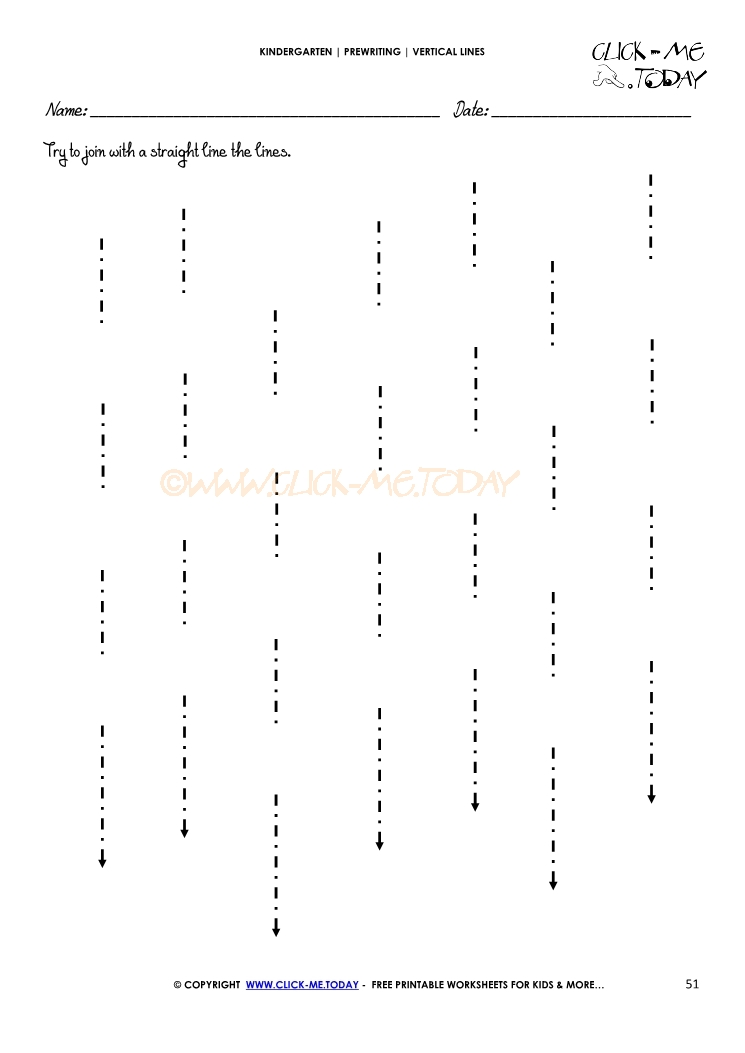 Drawing Straight Lines With A Ruler Worksheets : Vertical lines worksheet