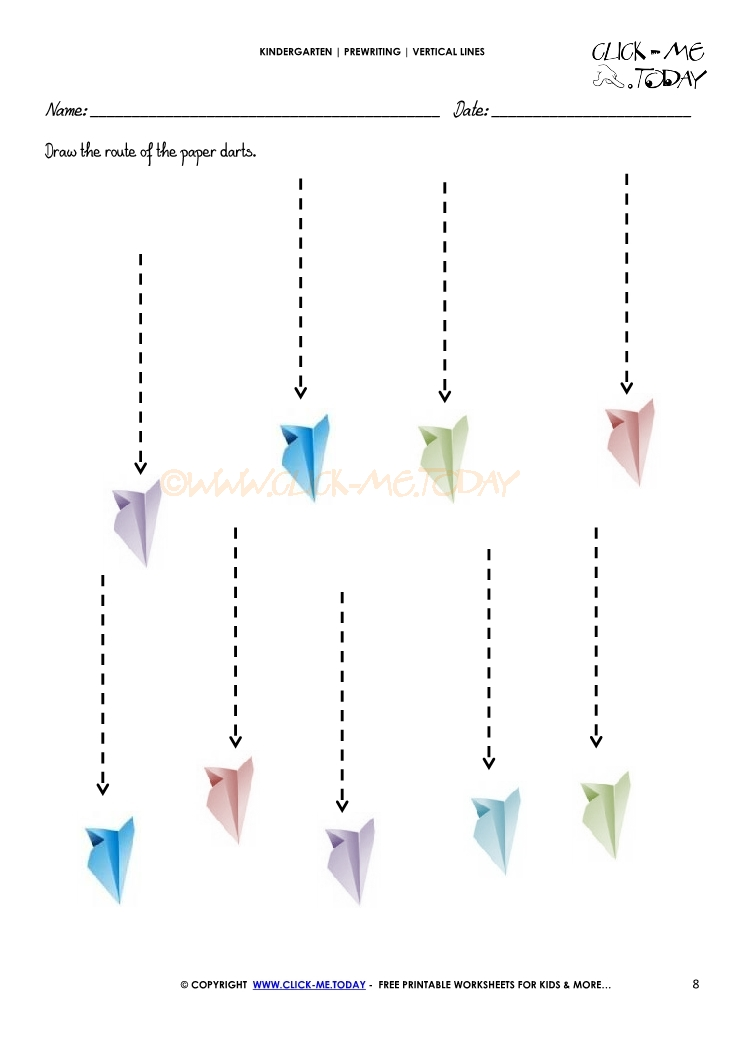 VERTICAL LINES WORKSHEET 8