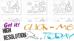 Numbers coloring pages - printable worksheets