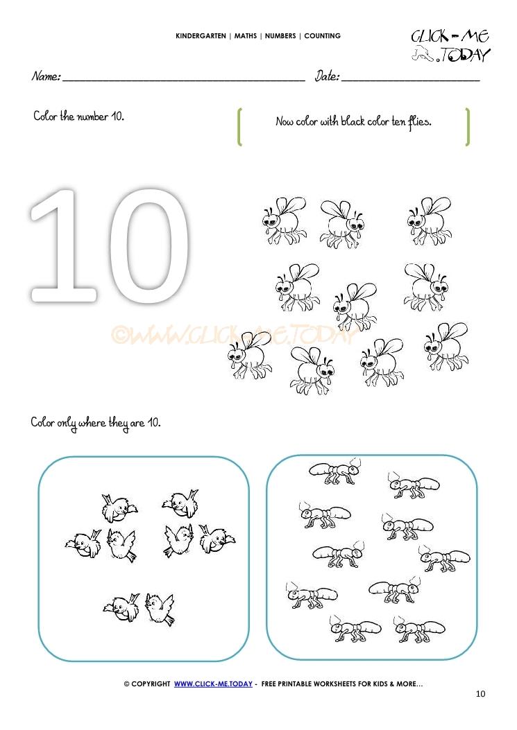 counting worksheet 10. Black Bedroom Furniture Sets. Home Design Ideas