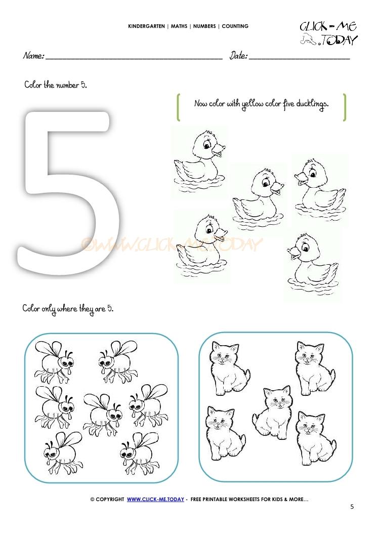 counting worksheet 5. Black Bedroom Furniture Sets. Home Design Ideas