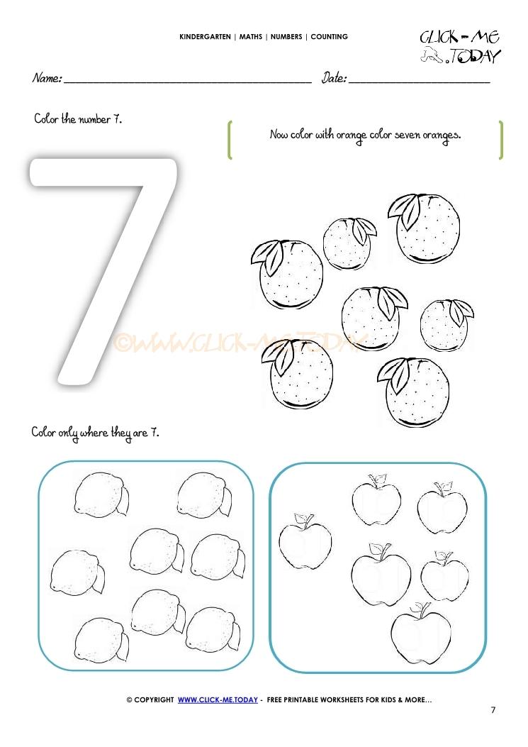 counting worksheet 7. Black Bedroom Furniture Sets. Home Design Ideas