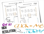 NUMBERS RECOGNITION WORKSHEETS L3