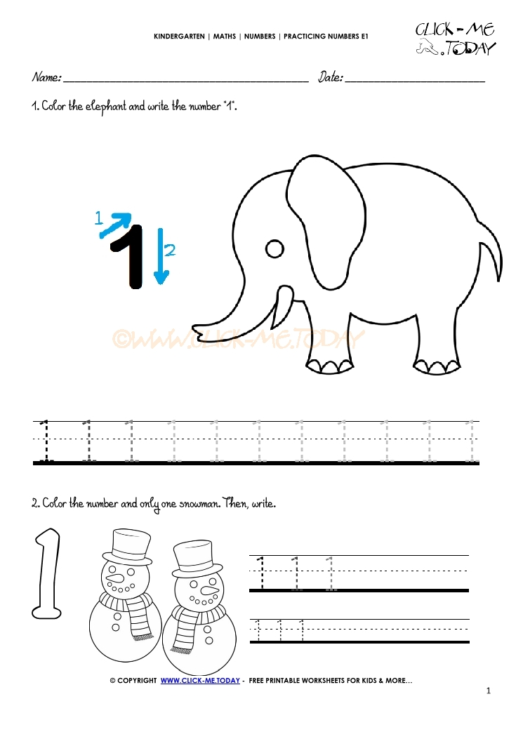 tracing numbers worksheets number 1. Black Bedroom Furniture Sets. Home Design Ideas