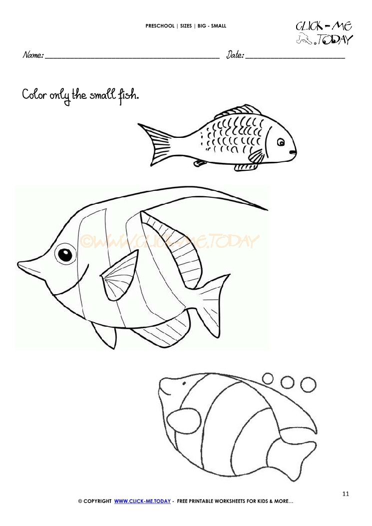 Worksheets For Preschoolers And Big Fish Small on Images About Free Halloween Worksheets On Pinterest Math For
