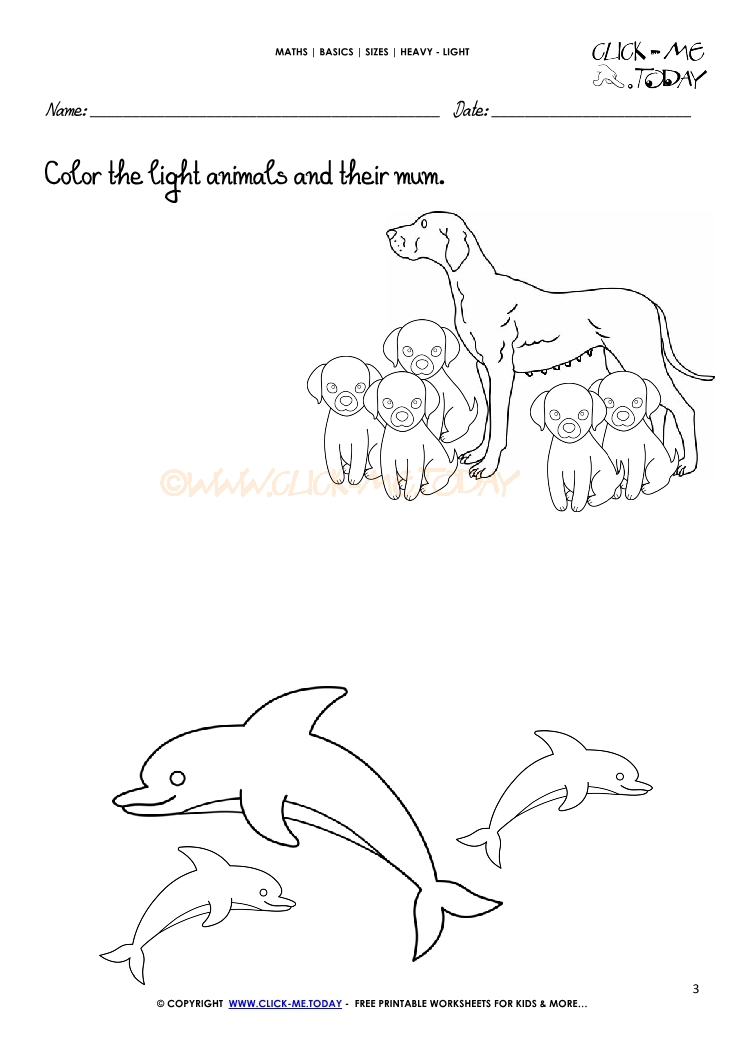 Printable Light Worksheets : Free printable heavy light activity sheets worksheets