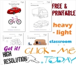 Heavy - Light Cards, Worksheets & Coloring pages for Kindergarten